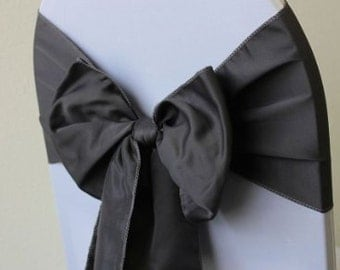 """Bulk 50 pieces satin wedding chair sashes, chair tie, all colors, wedding decor, baby shower, event, banquet, 6""""x108"""""""