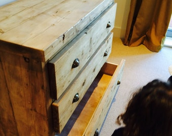 REDUCED - 2 or 3 drawer unit in beautiful reclaimed timber