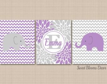 purple grey elephant etsy. Black Bedroom Furniture Sets. Home Design Ideas