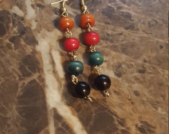 Afrocentric Beaded Earrings