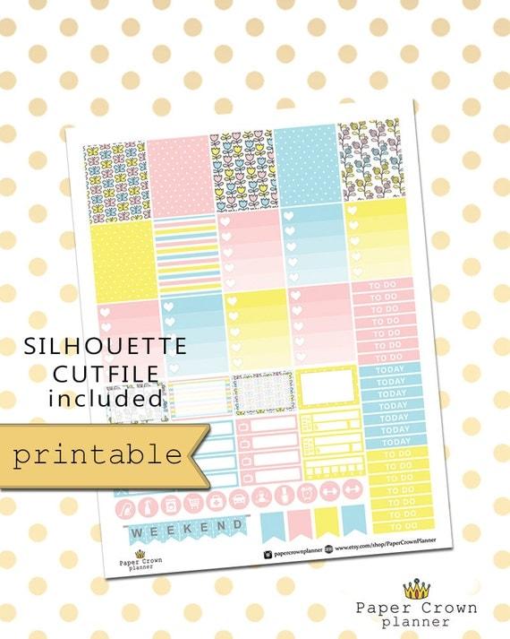 Planner Stickers/Erin Condren Planner Stickers/Spring Doodles Weekly ...