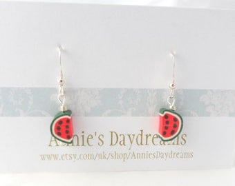 Melon Earrings - Fruity Earrings - Summer Earrings - Fruit Jewellery - Fruit Earrings- Quirky - Kitsch