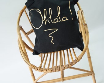 Tote Bag Ohlala!  -Tote - organic cotton Bag / Bag french / Oh the