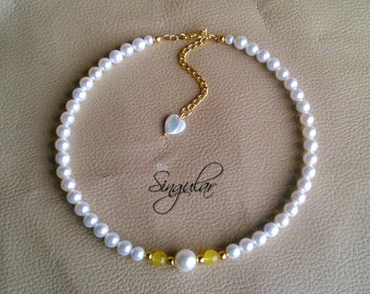 Costumizable Pearls and Glass beads Necklace