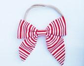 Candy Cane hair bow