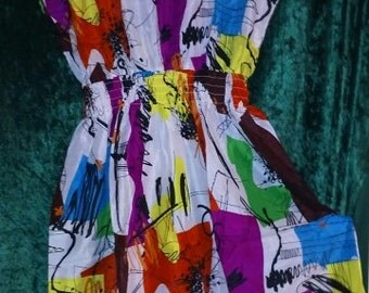 Awesome abstract light summer dress