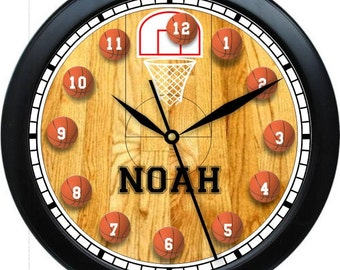"Basketball Hoops Personalized 10"" Wall Clock"
