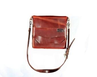 Leather Messenger Bag, Leather handbag, crossbody bag, ipad bag, Handmade in the USA