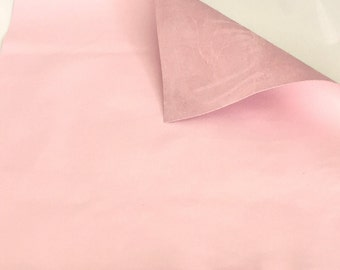 Pale Pink Leather / Smooth Pink Leather / Pale Pink Thin Leather / Genuine Leather