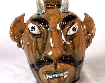 Albert Hodge Devil Face Jug
