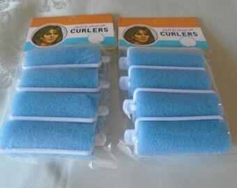 vintage blue sponge curlers