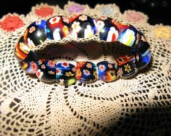 Venetian Millefiori Expanding Bracelet
