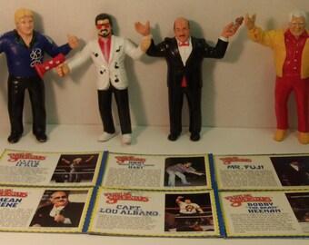 1986 WWF LJN Series 3 Managers set of 6 figures w/Bio cards!