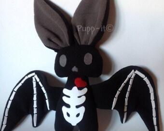 Bat skeleton plush