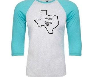 Texas Heart Quest baseball t