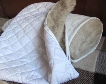 HEMP Organic Pillow filled HEMP FIBER with regulation  height/Hemp pillow/ Hypoallergenic Bed Pillow /Toddler/Eco pillow/Eco friendly