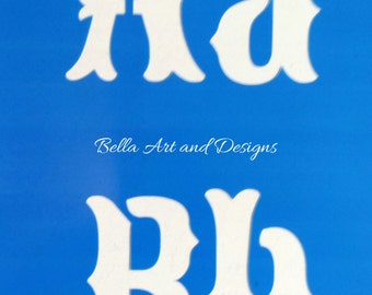 LETXL015  X-Large Letters and Numbers Stencil Set  *Free gift with every order*