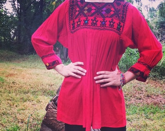 MeXican Red Blouse!