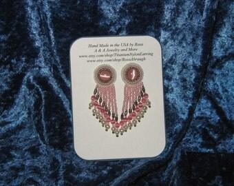 Hypoallergenic - Handmade Seed Bead Earrings, Tassel earrings