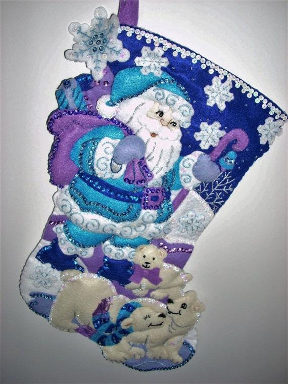Santa Claus Felt Stockings Bucilla Designs Page Five