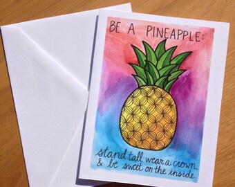Encouragement Card- Be a Pineapple