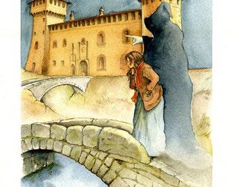 La via da seguire - Original watercolour paintings  by Andrea Rossi