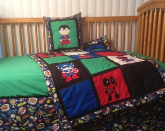 Superhero Crib Bedding