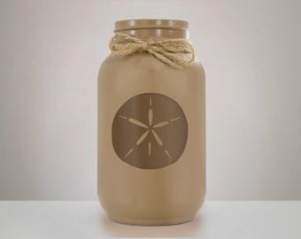 Sand Dollar Mason Jar