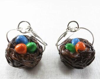 Easter Egg Nest earrings