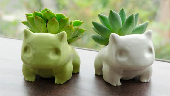 Ceramic Bulbasaur Planter