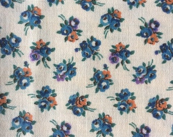 1930s Floral Fabric Yardage