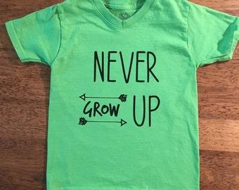 Never grow up boys shirt