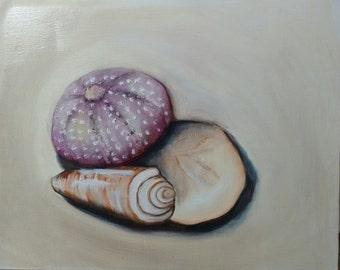 Oil Painting - Three Shells - 8x10