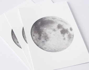 Watercolour Moon Print, Moon art, Space Art, Lunar art, moon painting, science drawing, watercolor painting, fathers day, planets and moons