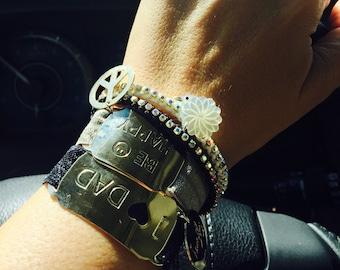 Bracelets, stackable bracelets, friendship bracelets, hand made bracelets, cute bracelets,elasctic band, bars, charms, gold filled, gifts