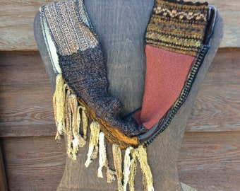 Lovely Infinity Scarf in Neutrals and Earth Tones