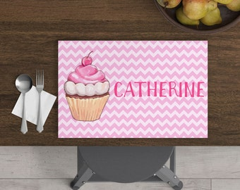 Sweet Treats - Personalized Kids Placemat - Cupcake Placemat - Custom Placemat - Girl Christmas Gift - Child Placemat - Dessert Placemat