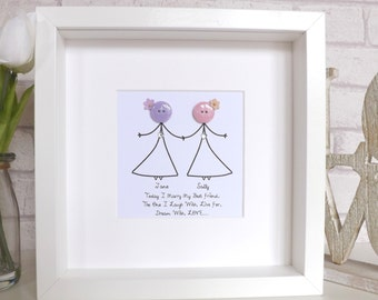Personalised Couples Print - 'Today I marry my best friend...'