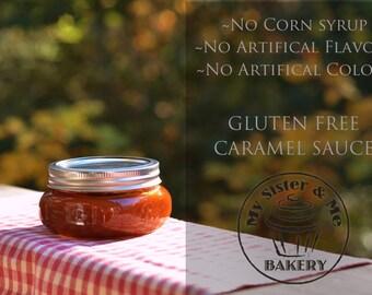 Salted Caramel Sauce-- Corn Syrup Free | Gluten Free | 8oz jar