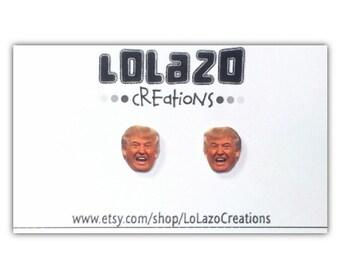 Donald Trump Face Earrings, Donald Trump Face Stud Earrings, Donald Trump Earrings , Trump, Earrings