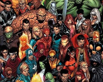 Marvel Heroes Cross Stitch Pattern, Marvel Characters, Popular Superheroes Modern Cross Stitch Pattern, Pdf Pattern, Instant Download