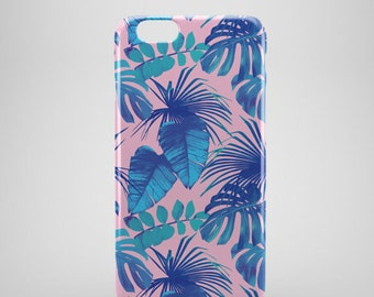 Tropical print iPhone 7 Case,  iphone 7 plus case, iPhone 7 covers, Palm tree phone case, hipster iPhone 7 case, iPhone 7+ cases, leaves