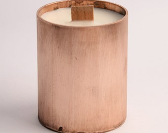 Copper Candle - Wooden Wick