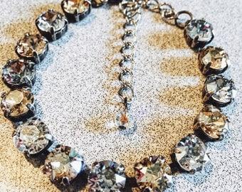 Neutral Tone Swarovski Crystal Bracelet