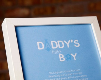 "A4 ""Daddy's Little Boy"" Poem"