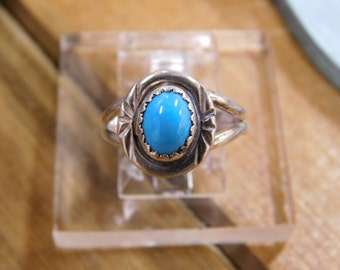 Petite Sterling Silver Turquoise Ring