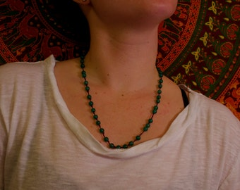 Green Thread Necklace