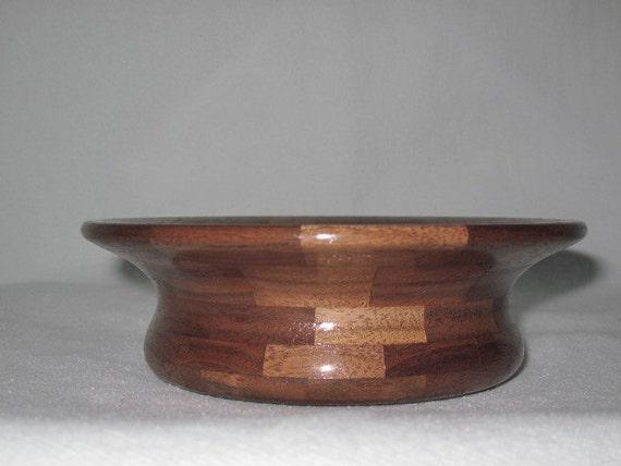 Hand Made Bowl, Segmented Walnut Bowl, Hand Made Wood Bowl
