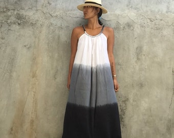 Dyed Maxi Dress, summer dress,prengnant woman,comfy, festival ,boho dress, beach cover,Dyed ,Home