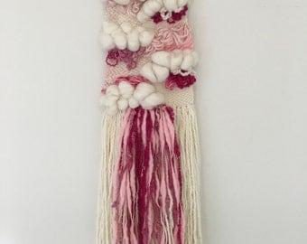 Sweet Pink Weaving Wall Hanging